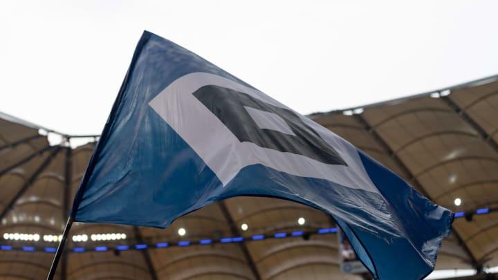 Fahne Flagge mit Stadion von Hamburg, HSV