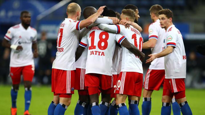 Fuhren den höchsten Sieg in der Zweitliga-Geschichte des Klubs ein: die Spieler des HSV.