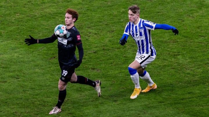 Luca Netz spielte gegen Werder Bremen über die vollen 90 Minuten
