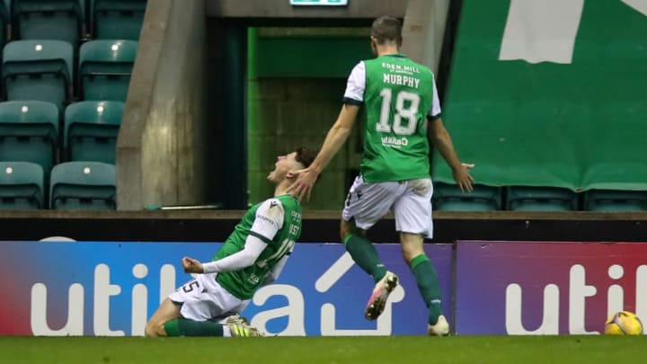 Nisbet hit the back of the net against Celtic