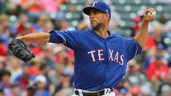 Texas Rangers left-hander Mike Minor