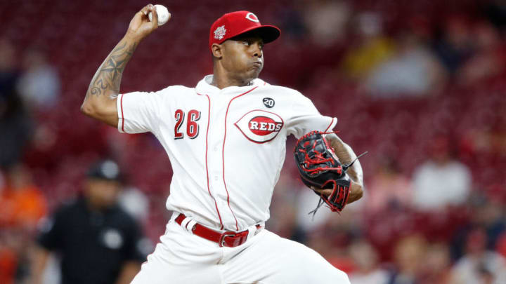 CINCINNATI, OH - JUNE 17: Raisel Iglesias #26 of the Cincinnati Reds pitches in the ninth inning against the Houston Astros at Great American Ball Park on June 17, 2019 in Cincinnati, Ohio. The Reds won 3-2. (Photo by Joe Robbins/Getty Images)