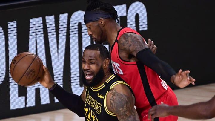 LeBron James against the Rockets.