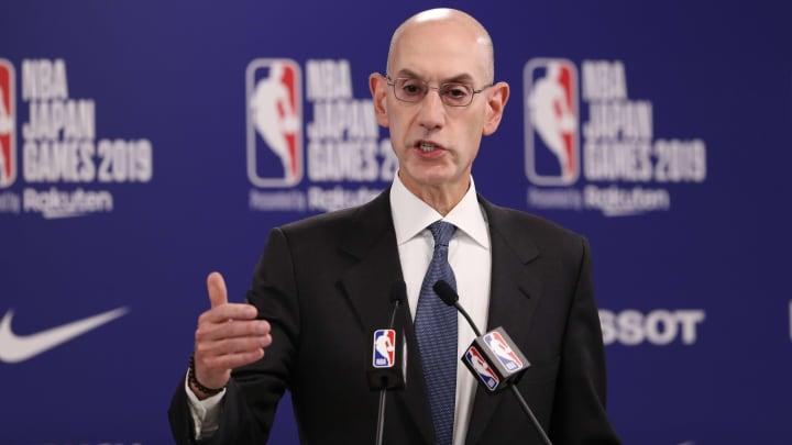 Adam Silver durante una rueda de prensa previa al partido entre Houston Rockets y Toronto Raptors