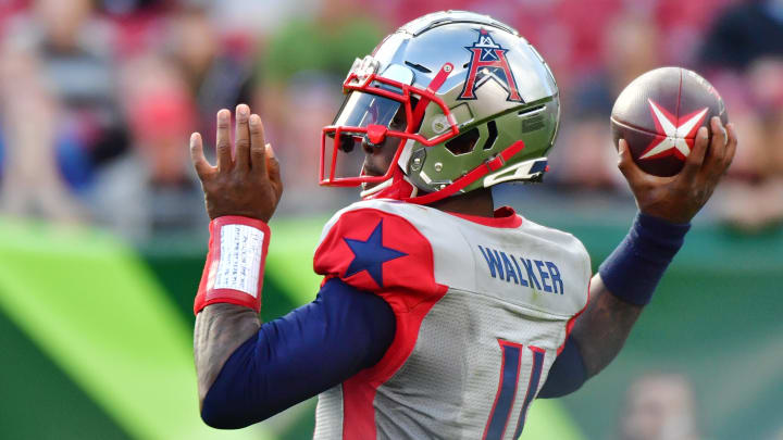 XFL fantasy football rankings feature P.J. Walker at QB1 for Week 4.