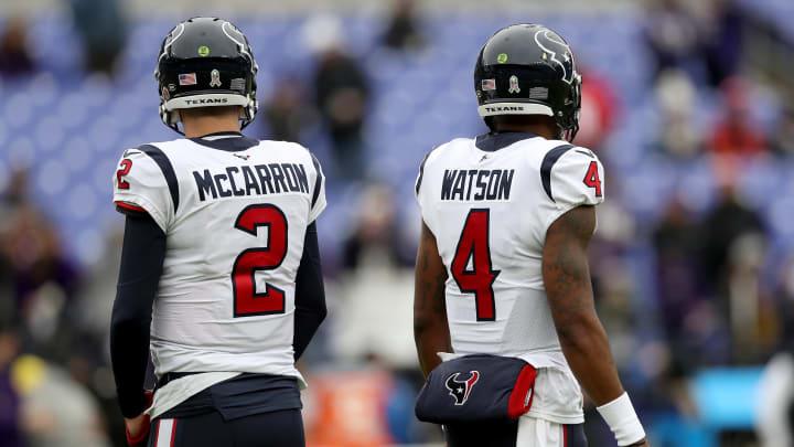 AJ McCarron and Deshaun Watson