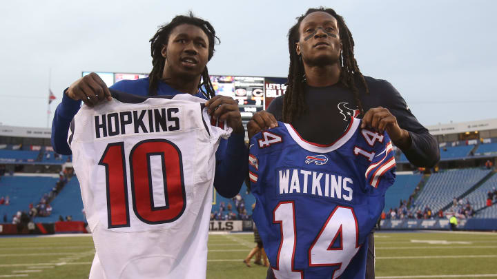 Two of the best Clemson wide receivers, Sammy Watkins and DeAndre Hopkins, played together in college.