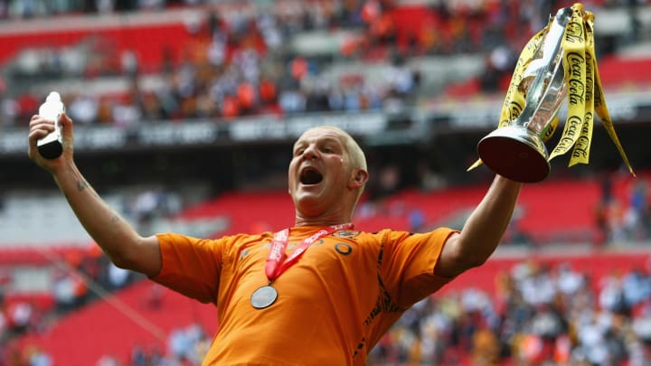Dean Windass putting the passion on show after a stupendous winner for Hull in 2008