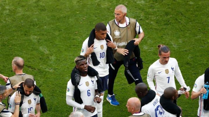 Paul Pogba, Kylian Mbappe, Antoine Griezmann