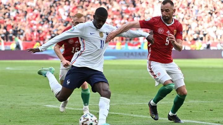 Dembélé hat gegen Ungarn einen Schlag aufs Knie bekommen