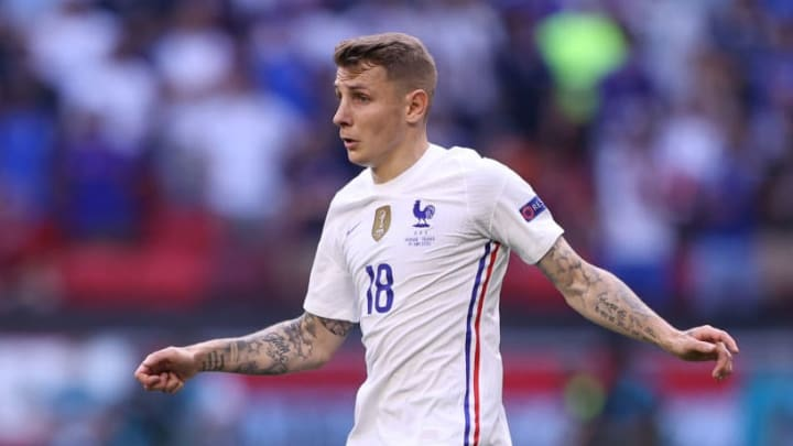 Lucas Digne was introduced at half time