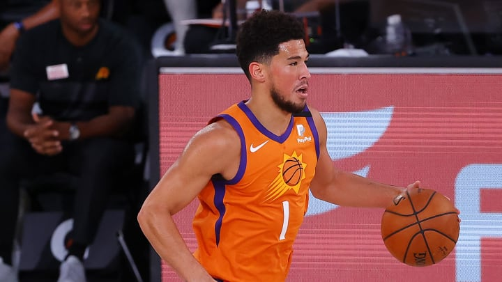 Devin Booker, Indiana Pacers v Phoenix Suns