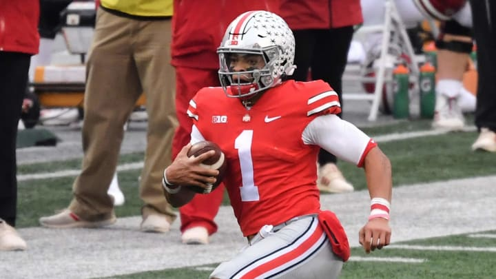 Justin Fields just helped his NFL Draft stock with an elite 40-yard dash at the Ohio State pro day.