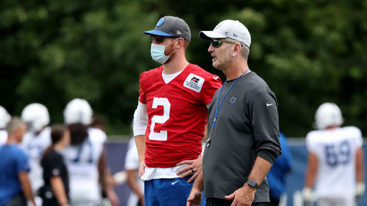 Indianapolis Colts Training Camp Practice With Carolina Panthers