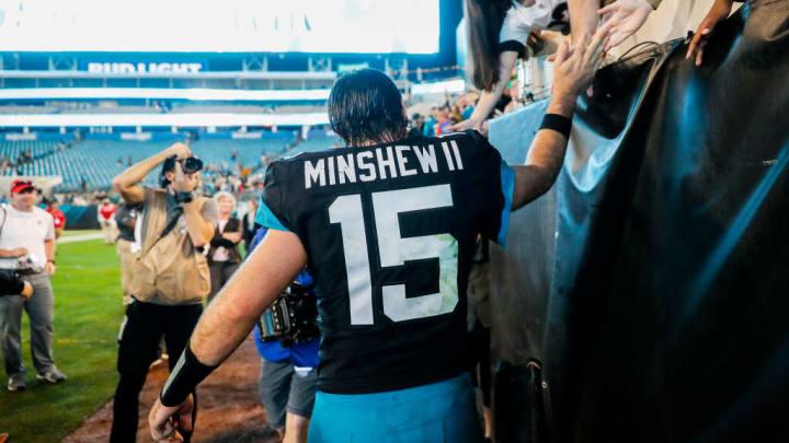 Jacksonville Jaguars QB Gardner Minshew is the starter in 2020.