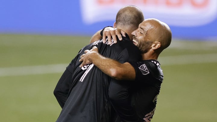 El grito de Gonzalo y Federico Higuaín en Inter de Miami.