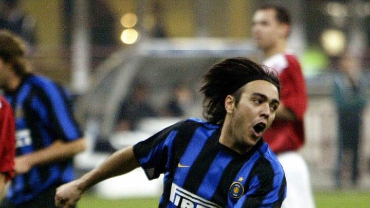 Inter Milan's Alvaro Recoba of Uruguay c