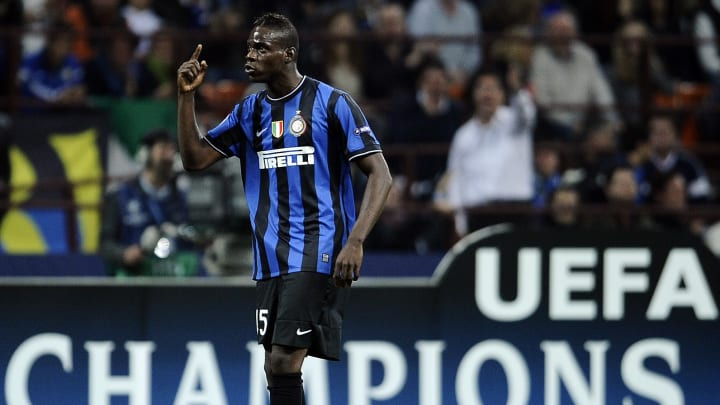 Inter Milan's forward Mario Balotelli ar