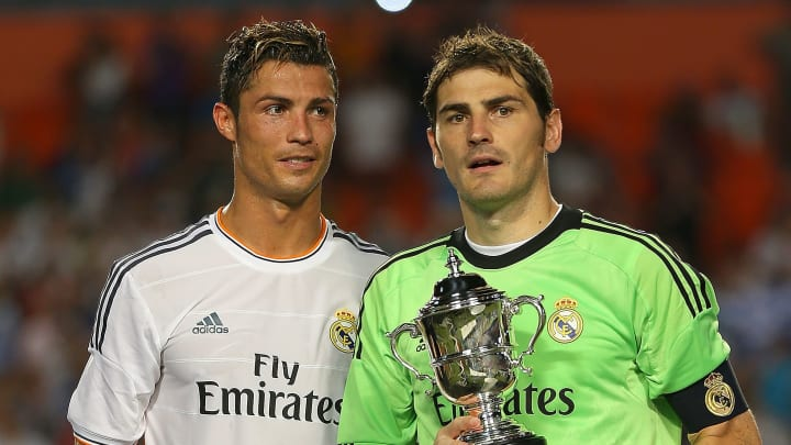 Cristiano Ronaldo and Iker Casillas have the joint-highest appearances in Champions League history