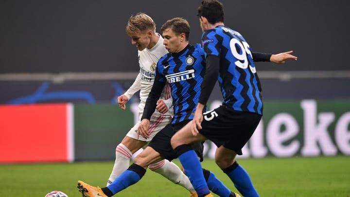 Barella e Bastoni contro il Real Madrid