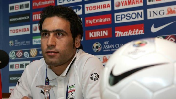 Iranian football team captain Mehdi Mahd...