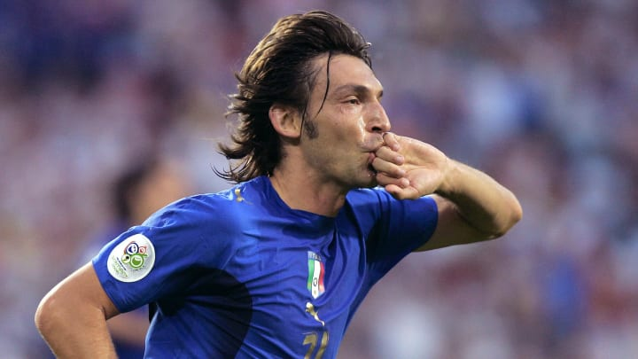 Italian midfielder Andrea Pirlo reacts a