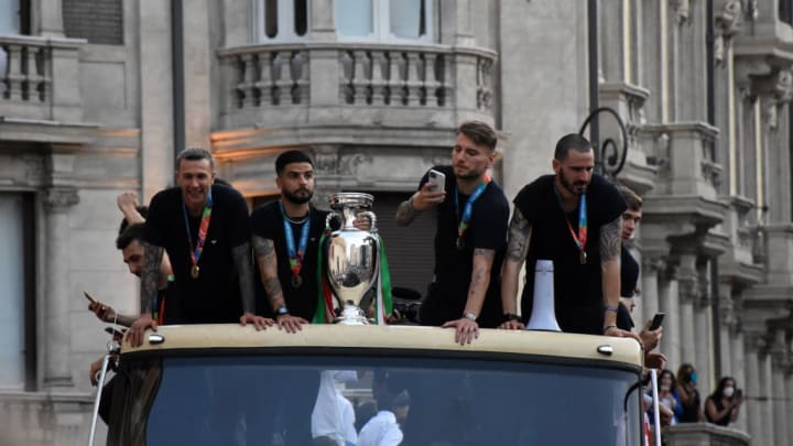 Italy celebrate EURO 2020 Cup