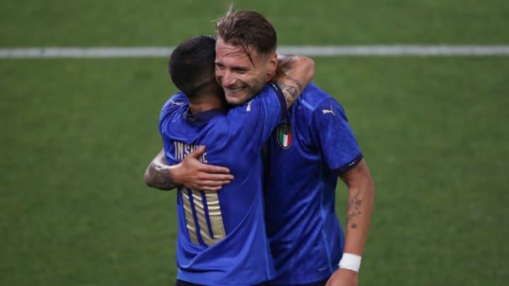 Lorenzo Insigne Ciro Immobile Itália Eurocopa