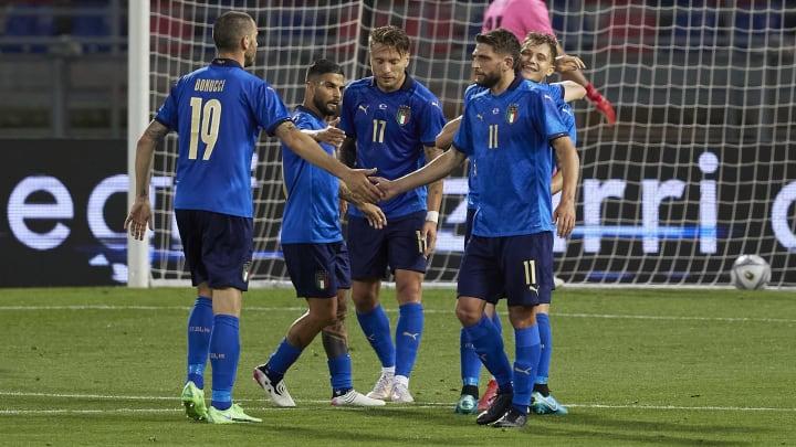 L'Italia dopo un gol alla Repubblica Ceca