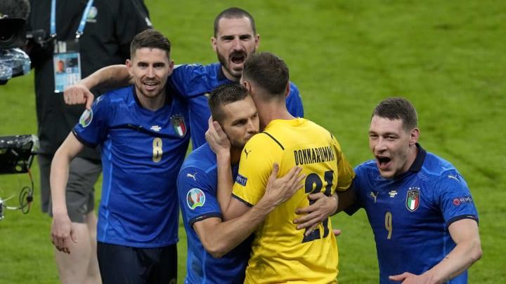 Selebrasi pemain Italia