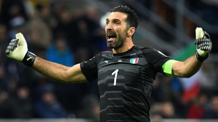 Gianluigi Buffon con Italia