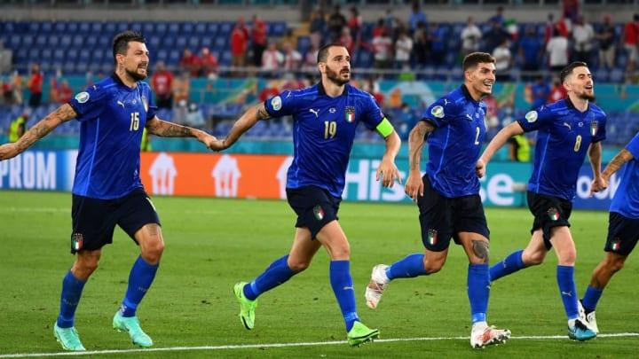 Francesco Acerbi, Leonardo Bonucci, Giovanni Di Lorenzo, Jorginho