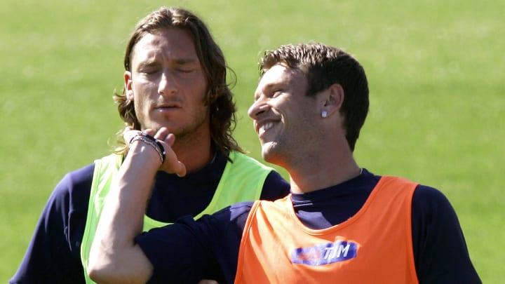 Francesco Totti e Antonio Cassano in Nazionale