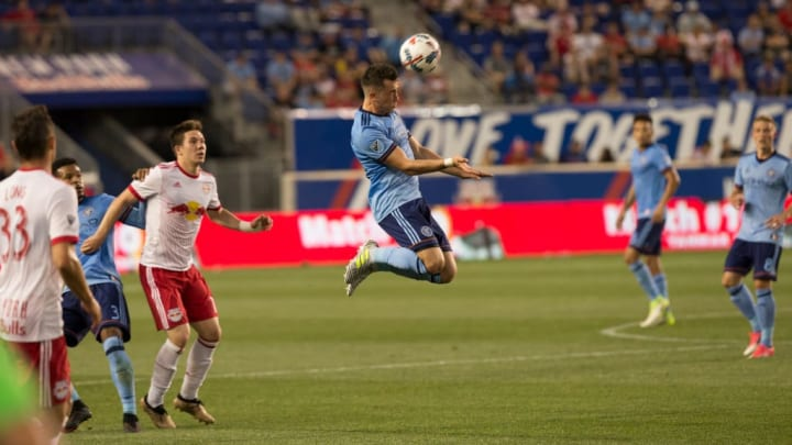 Jack Harrison (11) of NYC FC controls the ball during fourth...