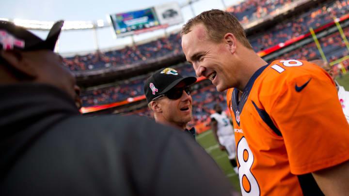 Peyton Manning laughing.