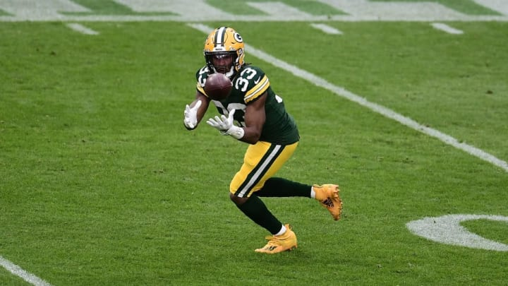 Aaron Jones receiving yards total is low, and the gameplan points to possible usage in the passing game.