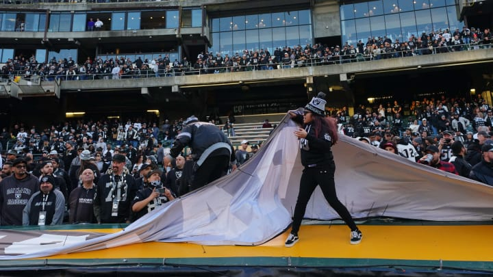 Raiders fans during the final home game in Oakland