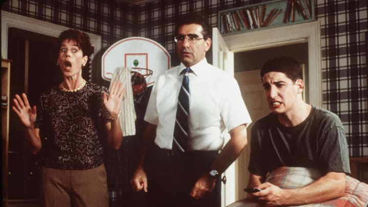 Jim and his parents in the original American Pie movie.