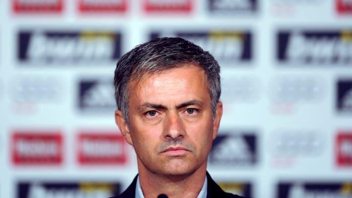 Jose Mourinho lors de sa première conférence de presse au Real Madrid.