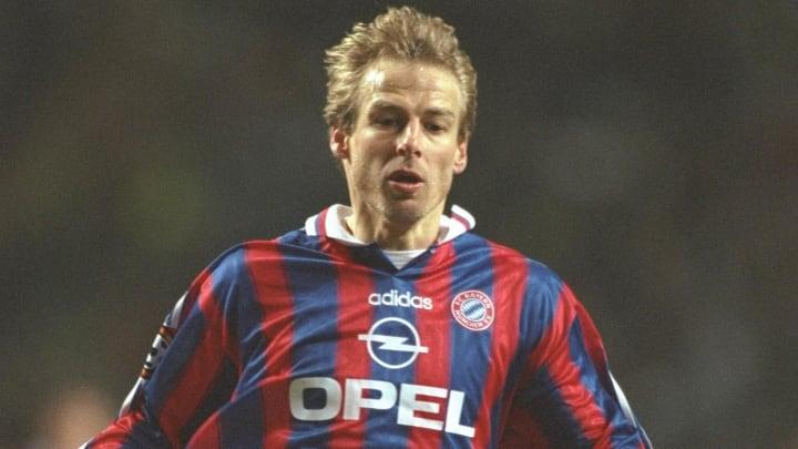 Jurgen Klinsman of Bayrn Munich in action