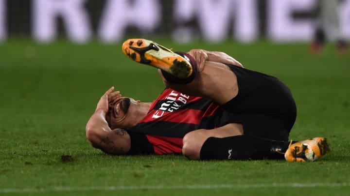 Zlatan Ibrahimovic s'était blessé lors du match entre la Juventus et l'AC Milan, dimanche dernier