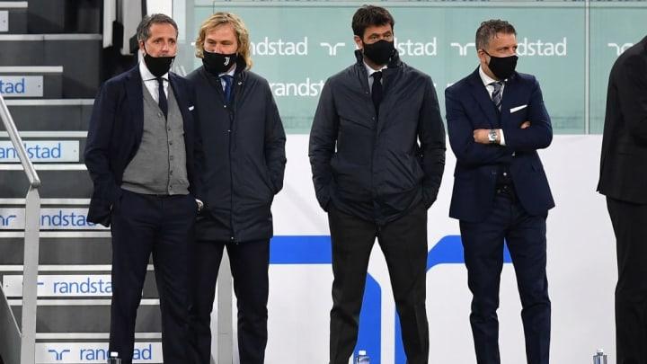 Fabio Paratici, Pavel Nedved, Andrea Agnelli, Federico Cherubini