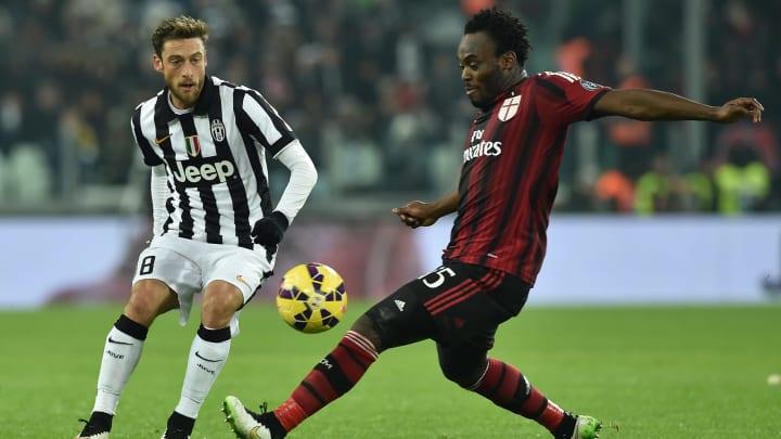 Juventus FC v AC Milan - Michael Essien (pictured right) versus Claudio Marchisio