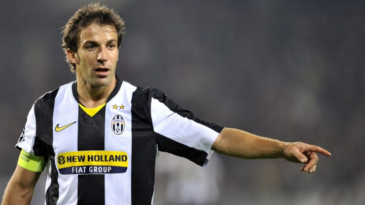 Juventus forward Alessandro Del Piero gi