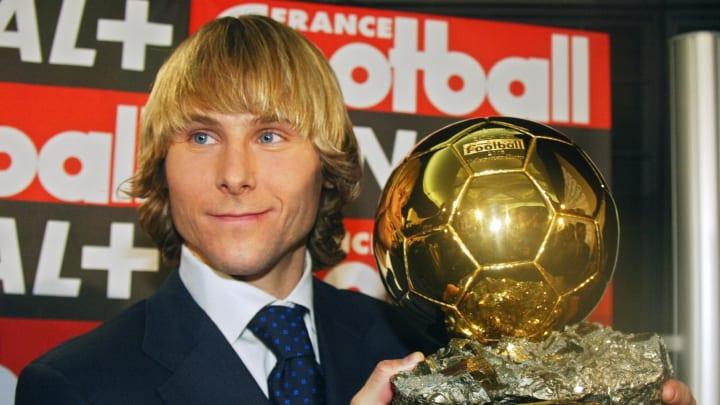 Juventus midfielder Pavel Nedved poses,