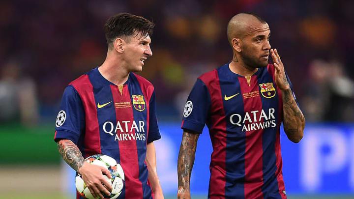 Lionel Messi, Daniel Alves
