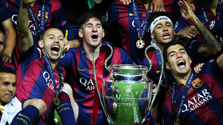 Neymar Jr, Lionel Messi, Luis Suarez, Javier Mascherano