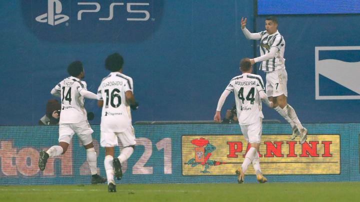 Cristiano Ronaldo, Weston McKennie, Juan Cuadrado, Dejan Kulusevski