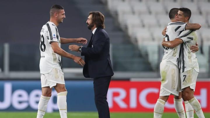 Andrea Pirlo, Merih Demiral, Leonardo Bonucci, Cristiano Ronaldo