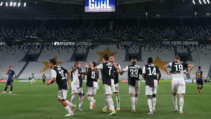 Cristiano Ronaldo, Federico Bernardeschi, Leonardo Bonucci, Blaise Matuidi, Rodrigo Bentancur, Douglas Costa, Paulo Dybala, Miralem Pjanic